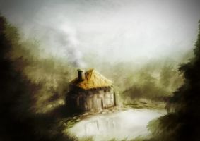 forest house - speedpaint by JanitD