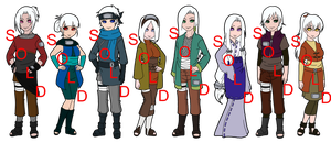 Mixed White Haired Naruto OC Adoptables - SOLD OUT by mistressmaxwell
