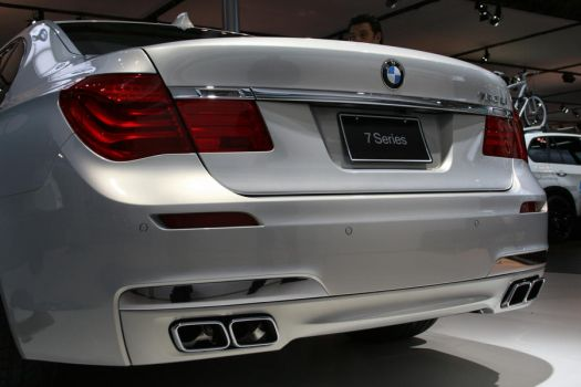 BMW - 7 Series Rear White by suhaildawood