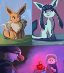 Eevees + Stuff by OrcaOwl