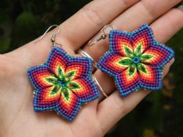 Rainbow earring by Teszugi
