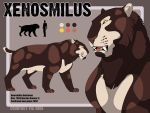 Xenosmilus Ref Sheet by hellcorpceo