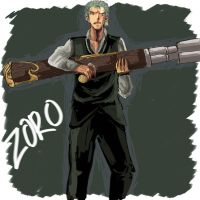 Strong world Zoro by duzie-wuzie