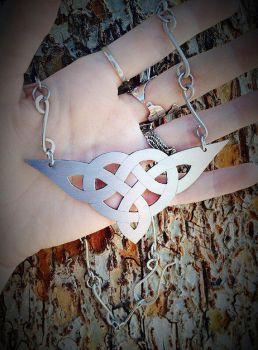 Celtic Trinity Knot Necklace by TheWickedGriffin