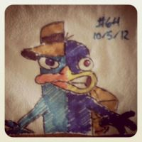 Napkin Art #64 -Agent 2face- Phineas n Ferb Batman by PeterParkerPA