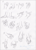 Anatomy Practice - Hands 2 by Guandao