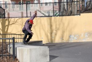 Roller Blading the Wall 13 by Miss-Tbones