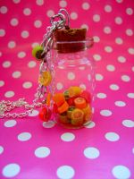 Bottle of fruits - necklace by NimfVirTi
