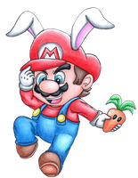 Super Mario Suits Collab: Bunny Mario by cmsimeon589
