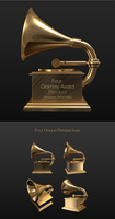 3d Grammy Record Player Award by ramijames
