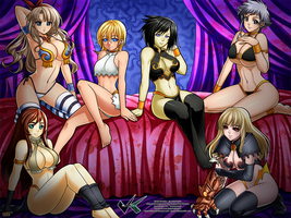 Commission : Anonymous Harem by jadenkaiba