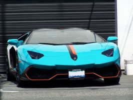 Blue Lambo by SeanTheCarSpotter