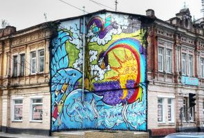 graffiti house by KYAV
