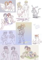 digimon: 8/1 sketch requests by KatYoukai