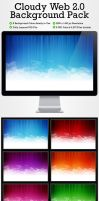 Cloudy Web 2.0 Background Pack by behzadblack
