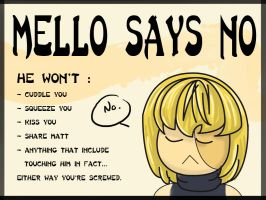 Mello says NO by Blooming-tree