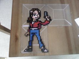 L4D Zoey Perler by FatalJapan