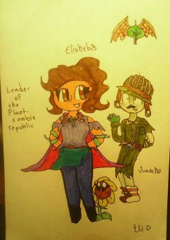 Me the leader of the plant-zombie republic by Elishebis12