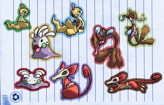 PKMNation Work Doodles by Aetherium-Aeon