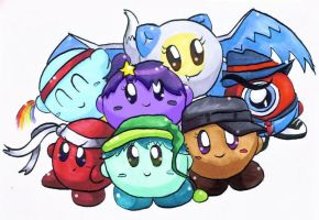 Kirby OCs - Group Pic by littlemisskirby