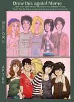 Demigods' before and after by incredibru