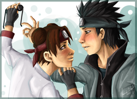 AT .::Tenten and Shino::. by Amand4