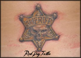 Susanas Badge Day After by Reddogtattoo