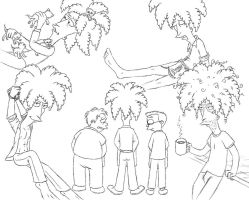 Sideshow Bob sketches 3 by Nevuela