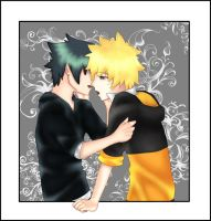 SasuNaru:Kiss by CandySasu