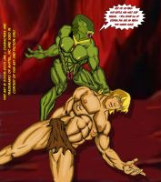 08-Kobra Khan vs He-Man He-Man down by JungleKingKazar