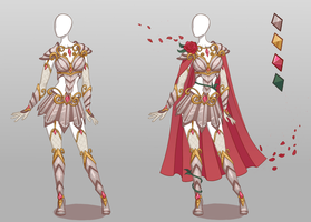 CLOSED Fashion adoptable auction ~ Rosal armour by Ayleidians