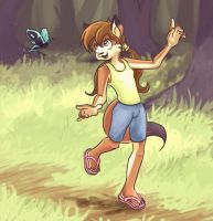 Follow the butterfly by CoyChacal