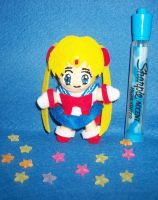 Tiny Sailor Moon plush by TashaAkaTachi