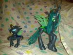 Queen Chrysalis and Changeling Customs by KiyaraSabel