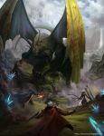 Fighting a Dragon by Fetsch