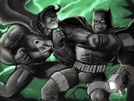 Superman vs Batman no frills by Dreee