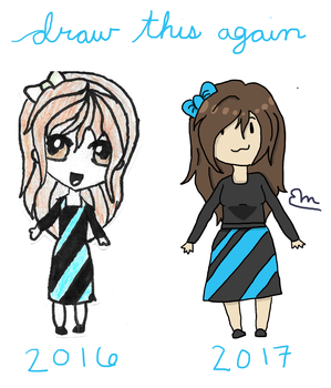 2016 vs 2017 // Draw This Again by LuminescentDemon