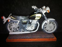 Paper-craft Motorcycle Yamaha SR 400 by zandere123