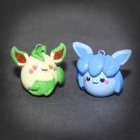 Pokemon - Eeveelution pendants - Leafeon + Glaceon by SuperSiriusXIII