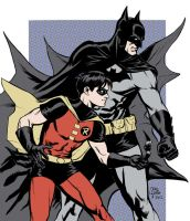 Batman + Robin by craigcermak