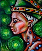 Nefertiti in time by oliecannoligriffard
