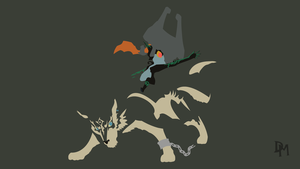 The Legend of Zelda: TP - Wolf Link and Midna by DisasterMastr