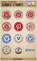Vimeo and Pinterest Rubber stamps by Sergey-Alekseev