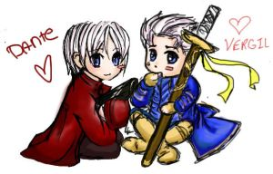 Chibi Dante and Vergil by Lomelindi88