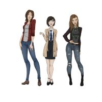Team free will genderbend by NellyMonster