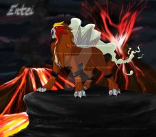 Entei - Eruption by SumikoOneeSan