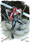 Red She Hulk sketch commission by elena-casagrande