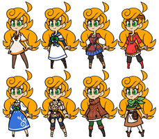 Mydhilde - A Few Outfits by The-Knick