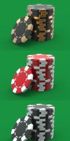Free 3d casino chips by pixaroma