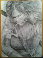 Lara Croft Pencil Drawing by RshawArt